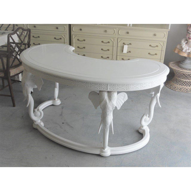 Gampel Stoll Fretwork Elephant Desk For Sale - Image 10 of 13