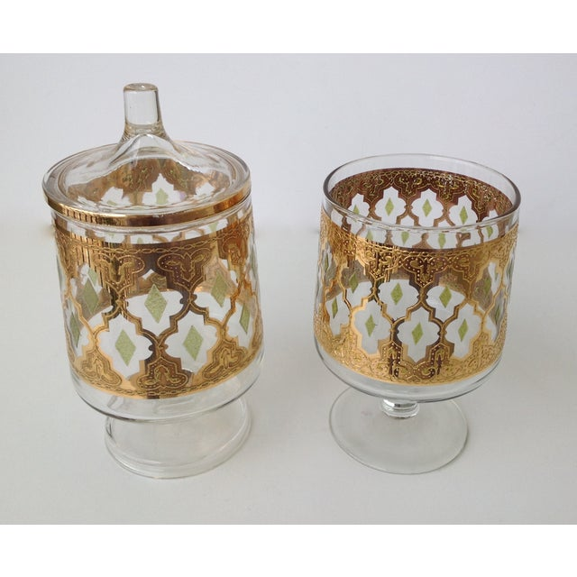 "Culver ""Valencia"" Gilt Footed Containers - Pair - Image 5 of 9"