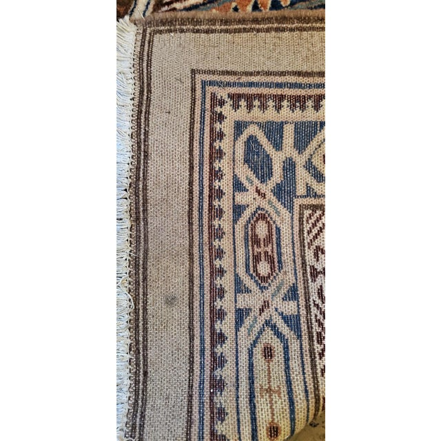 Tan Early 20th Century Vintage Afghan Tribal Square Prayer Rug- 3′7″ × 3′8″ For Sale - Image 8 of 11