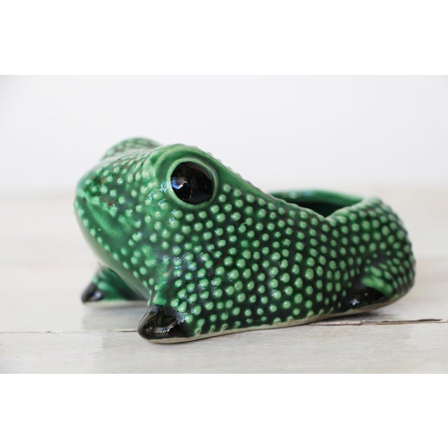 This Is a 1970 Vintage Hobnail Frog Planter In The Style Of Jean Roger.