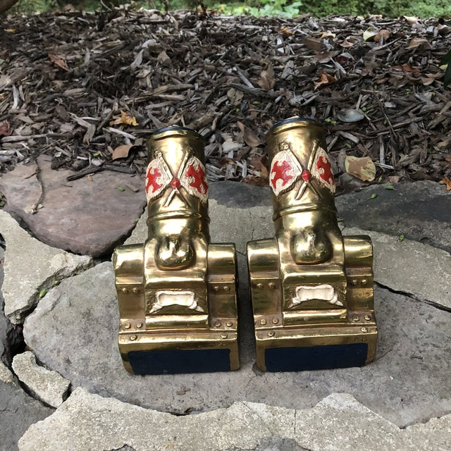 Marion Bronze Co. Americana Patriotic Cannon Bookends - a Pair For Sale In Baltimore - Image 6 of 12