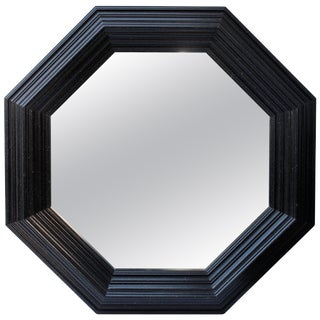 Large Black Octagonal Mirror For Sale