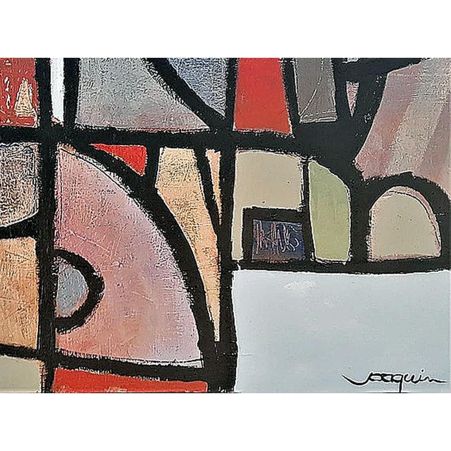 """Title: Stained Glass Gone Awry"""" Medium: Acrylic on canvas Dimensions: 36""""H x 48""""W It is not without trial and error, that..."""