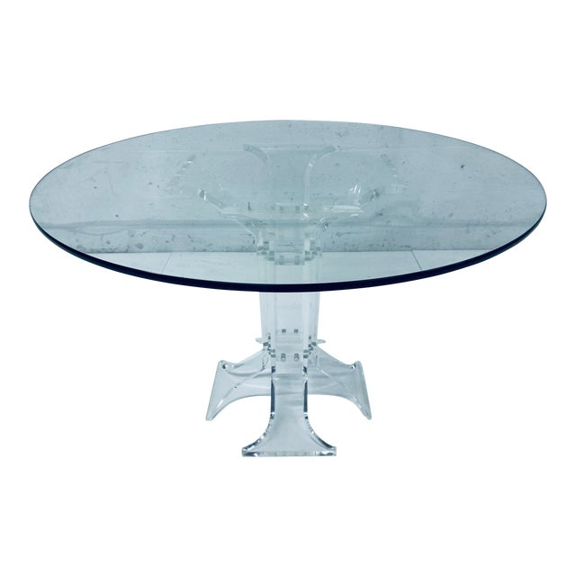 Verano Lucite Dining Table With Glass Top For Sale