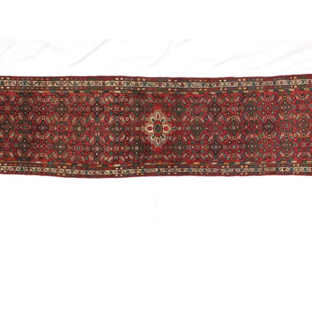 "Islamic Leon Banilivi Persian Hamadan Rug - 2'4"" x 9'5"" For Sale - Image 3 of 4"