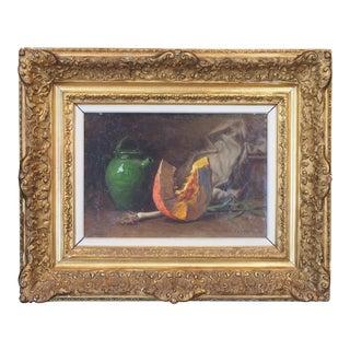 Still Life Oil On Canvas by Edouard Cabane