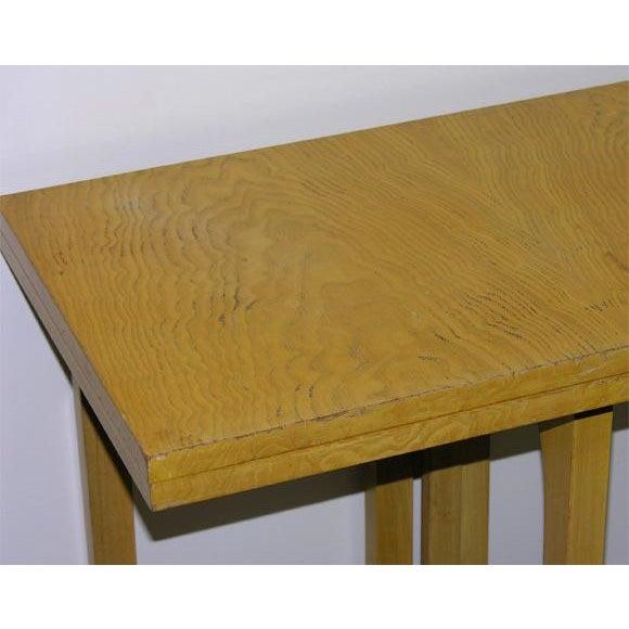 Tan Johan Tapp Custom Flip Top Console Server Table For Sale - Image 8 of 8