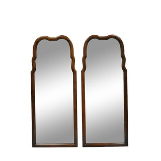 Thomasville Hollywood Regency French Arched Beveled Glass Console Mirrors - a Pair For Sale