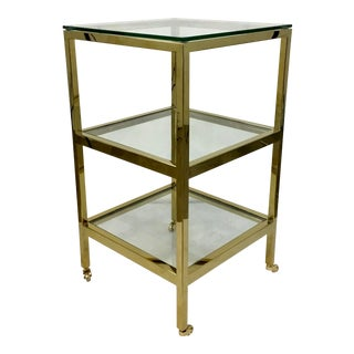 Regina Andrew Modern Brass Finished Three-Tier Alister Side Table For Sale