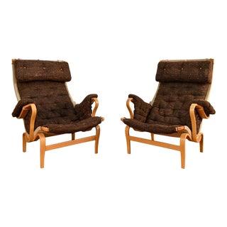 Bruno Mathsson Pernilla DUX Lounge Chairs - A Pair