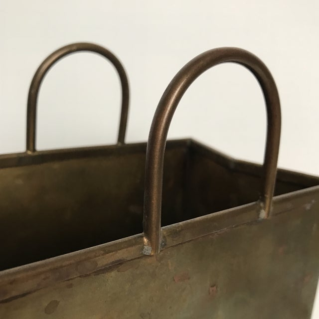 Small Vintage Brass Shopping Bag - Image 8 of 10