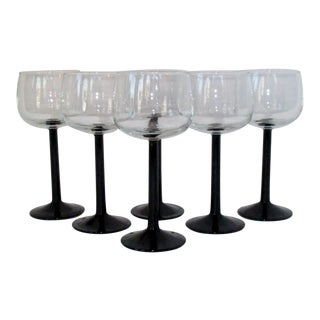 French Wine Glasses, Set of 6 For Sale