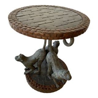 Monkeys Bronze Table Sing by Maitland Smith . For Sale