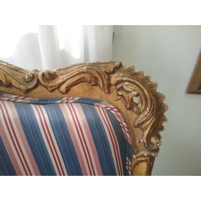 Antique Louis XIV Style Wing Chair - Image 6 of 7