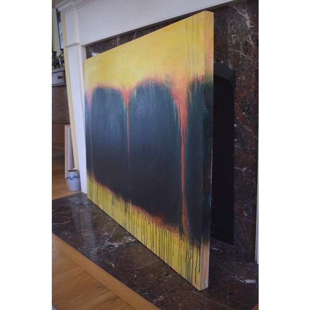 "Black ""Yellow Sunset"", Contemporary Abstract Painting by Stephen Remick For Sale - Image 8 of 9"