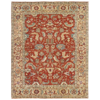 Exquisite Rugs Serapi Hand knotted Wool Gold Rug-14'x18' For Sale