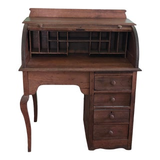 Vintage 1930s Rolltop Desk For Sale