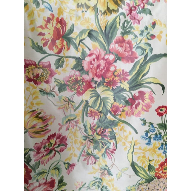 Silk Floral Taffeta Fabric - 1.5+ Yards - Image 2 of 5