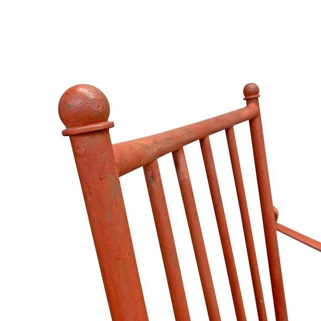 Set of Four Mid-20th Century American Iron Patio Chairs For Sale - Image 9 of 12