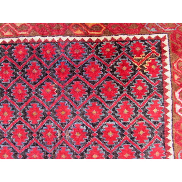 1910s 1910s, Handmade Antique Afghan Baluch Rug 3.1' X 5.9' For Sale - Image 5 of 13