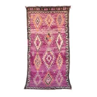 """Boujad Vintage Moroccan Rug, 6'1"""" X 11'10"""" Feet"""