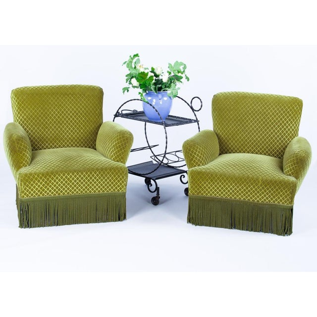 1940s Napoleon III Style Upholstered Armchairs - A Pair - Vintage & Used Austin Seating Chairish