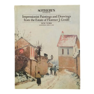 1985 Sotheby's Impressionist Paintings and Drawings Art Auction Catalog For Sale