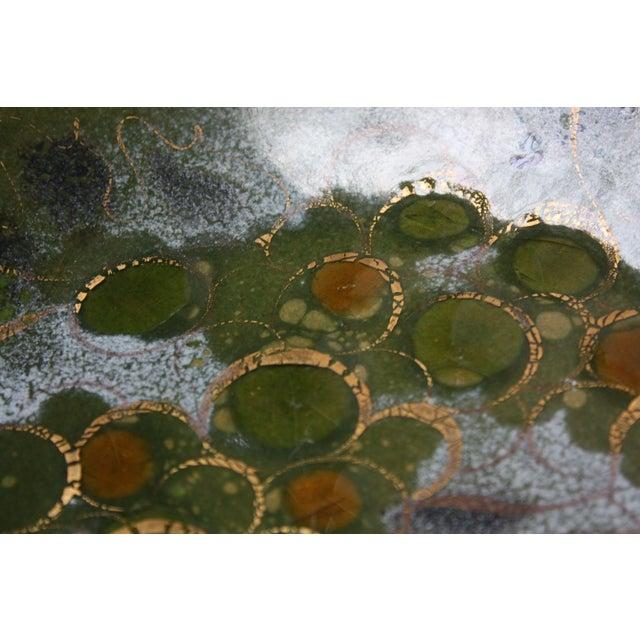 Sascha Brastoff 'Grapes on Vine' Enamel on Copper Charger For Sale - Image 10 of 13