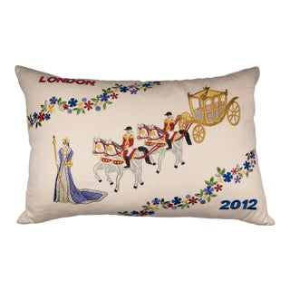 "Cottage William Yeoward 2012 Queen's Diamond Jubilee Oblong Pillow - 23""x14"" For Sale"