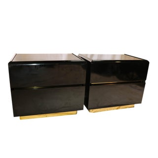 Mid-Century Lane lacquer Nightstands Side Tables - A Pair
