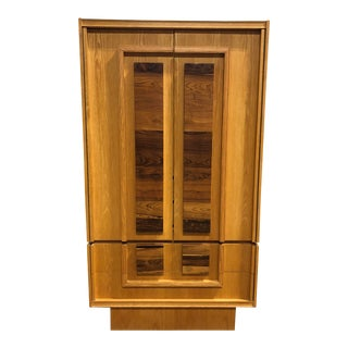 1970s Brutalist Tall Dresser Armoire For Sale