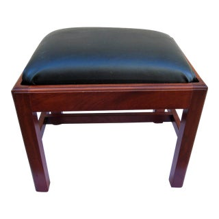 1980s Vintage Bartley Collection Handmade Solid Cherry Miniature Chippendale Bench For Sale