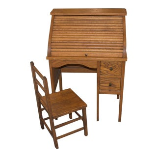 Antique Childs' Desk & Chair For Sale