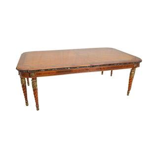 "Henredon Grand Provenance 136"" Regency Style Large Walnut Dining Table (B) For Sale"
