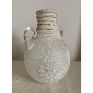 Roman Glass Amphora Vase With Spiral Threading Preview