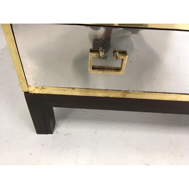 Sarreid Gold and Silver Chest on Ebony Base For Sale In Chicago - Image 6 of 8