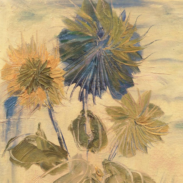 'Still Life of Flowers in a Jug' by Frank Gebhart, Post-Impressionist Still Life For Sale In Monterey, CA - Image 6 of 8