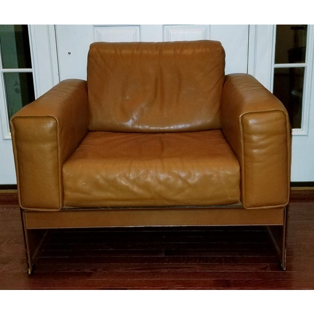 1980s Tito Agnoli for Matteo Grassi Korium KM 3/1 Armchair For Sale - Image 5 of 5