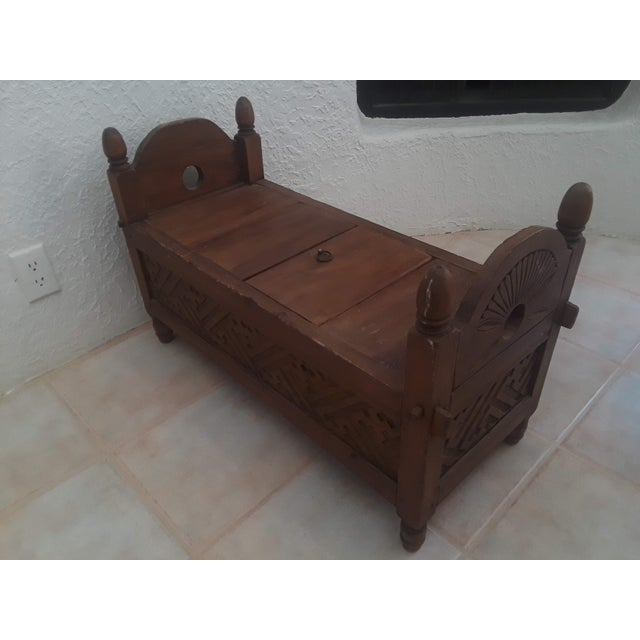 1990s Indonesian Jodang Teak Wood Table For Sale - Image 5 of 8