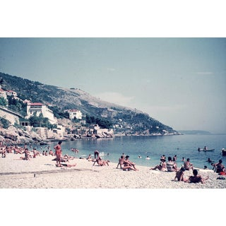 Vintage 1960s Europe Dubrovnik Croatia Excelsior Hotel Beach Photograph Print For Sale