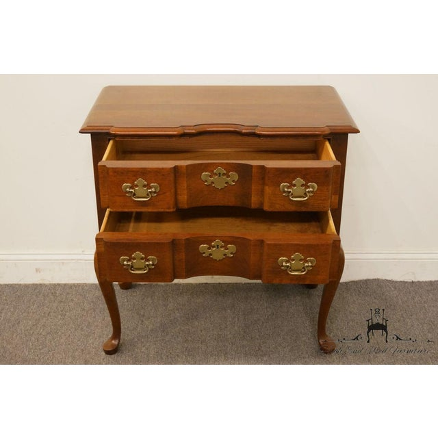 20th Century Traditional Wells Furniture Cherry Blockfront Lowboy Chest For Sale In Kansas City - Image 6 of 13
