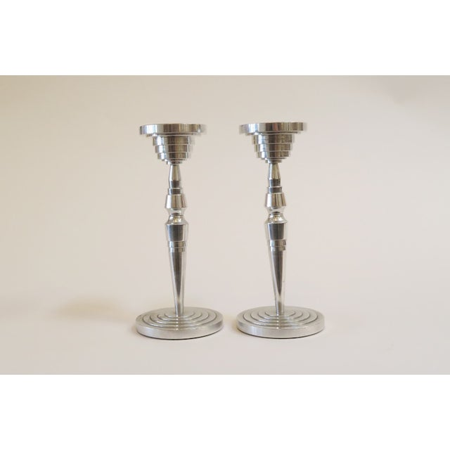 Industrial Silver Candlesticks - a Pair - Image 2 of 5