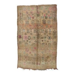 "Boujad Vintage Moroccan Rug, 6'4"" X 10'0"" For Sale"