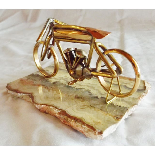 Brass Motorcycle Sculpture Cyclone Racer - Image 3 of 10