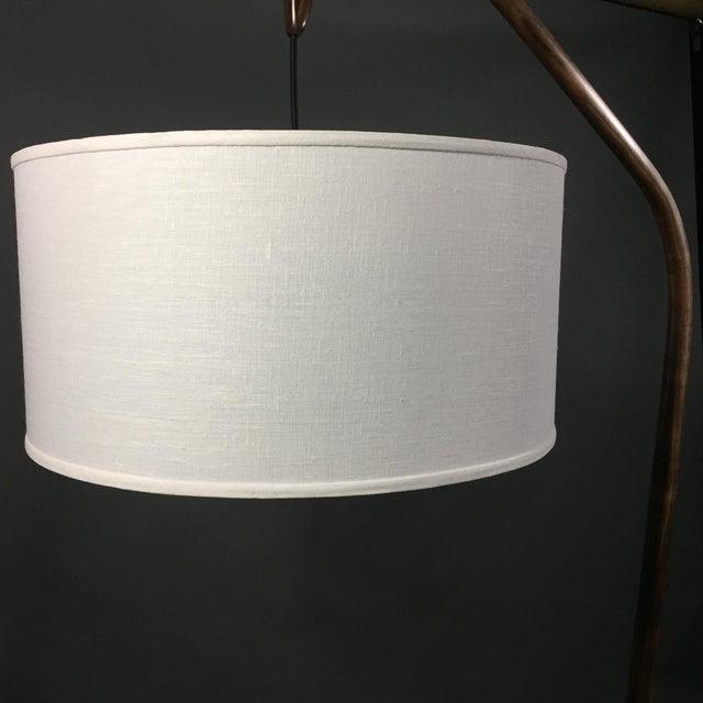 2010s Daniel Oates Steambent Floor Lamp in Walnut For Sale - Image 5 of 10