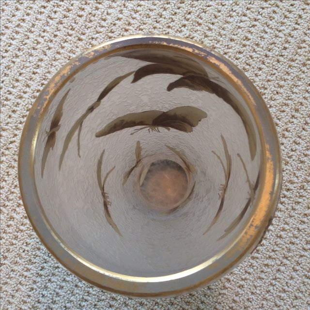 Legras Butterfly & Dragonfly Glass Vase - Image 6 of 6