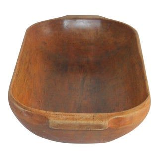 19th Century American Dough Bowl Hand Carved For Sale