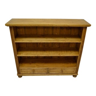 Pine Bookcase with Two Drawers