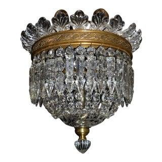 Antique lighting, Baccarat pendant For Sale