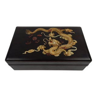 Chinese Zitan Dragon Box For Sale